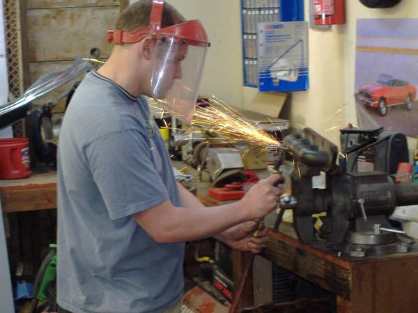 Grinding welds on DIY turbo manifold