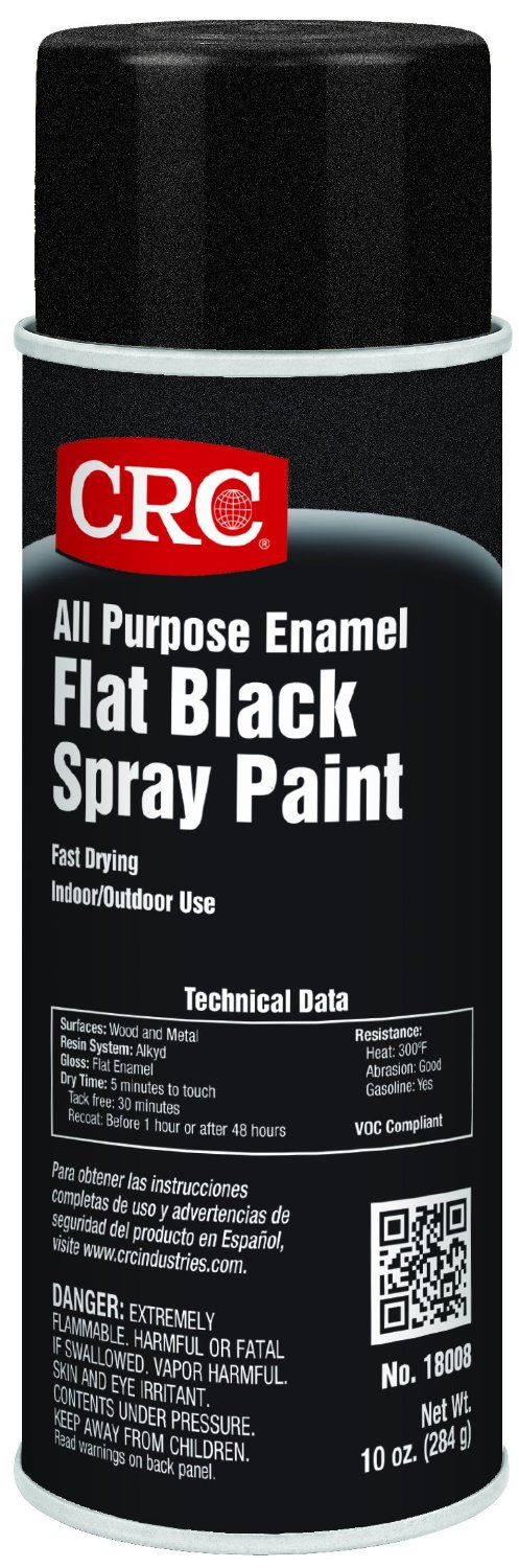 Flat Black Spray Paint Can