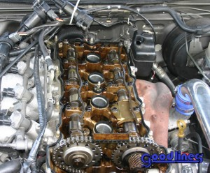 SR20DET After removing valve cover and timing cover