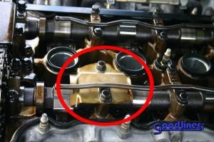 SR20DET Drivers side oil baffle