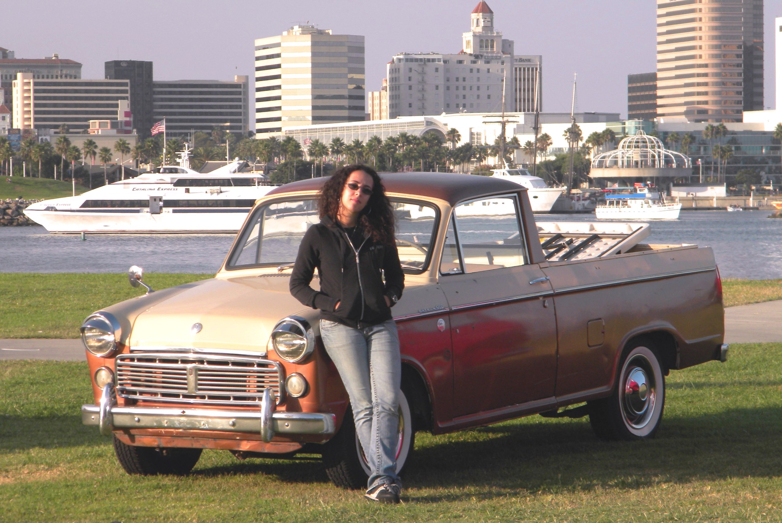 Christine and a Datsun NL320