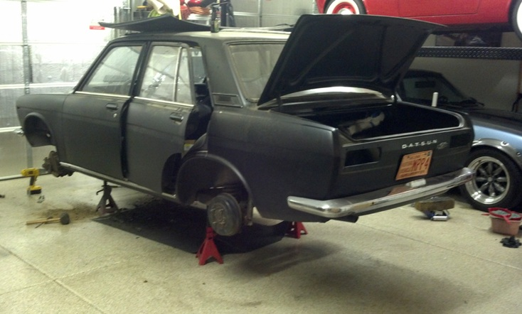 Datsun 510 restoration beginning
