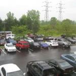 Hotel parking lot full of SR20's