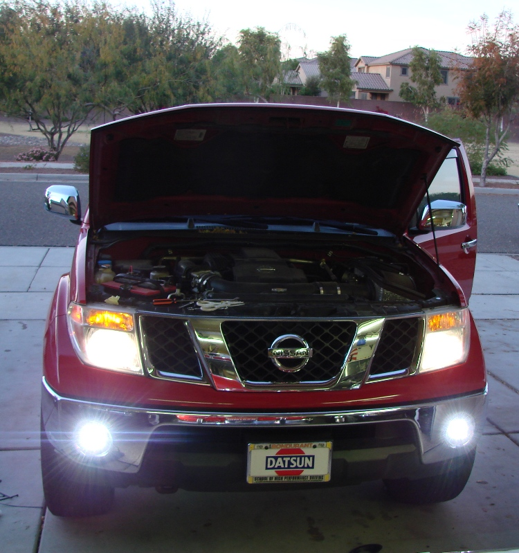Nissan Frontier with BajaDesigns Squadron LED Lights