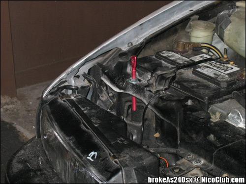 aerocatch hood pin installation article 240sx carbon fiber hood
