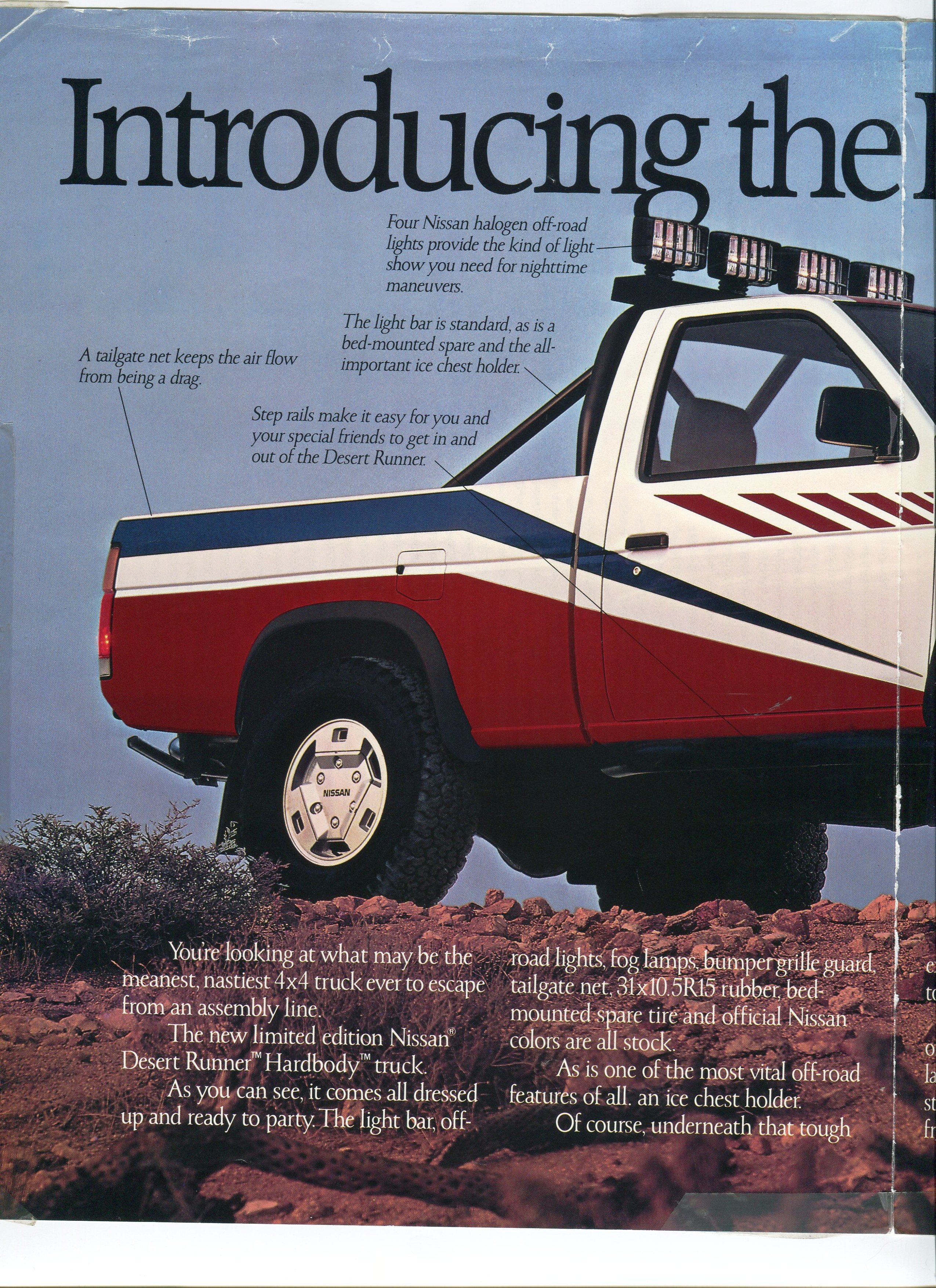 1988 Nissan Hardbody Desert Runner Dealer Brochure Nicoclub