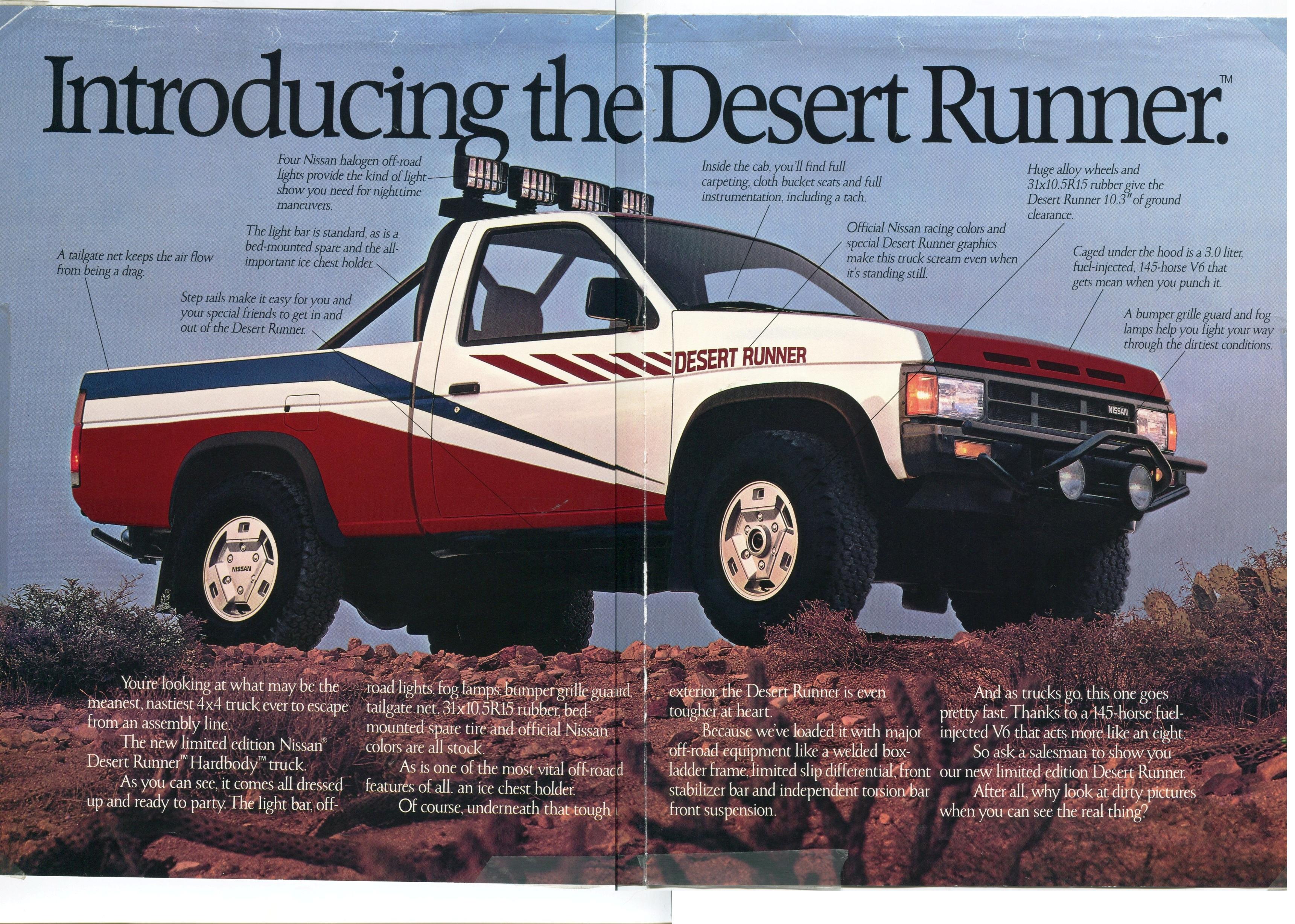 runner desert nissan 1988 hardbody brochure light dealer ad rides debadged nicoclub late rare craigslist versions sized thumbnails each please