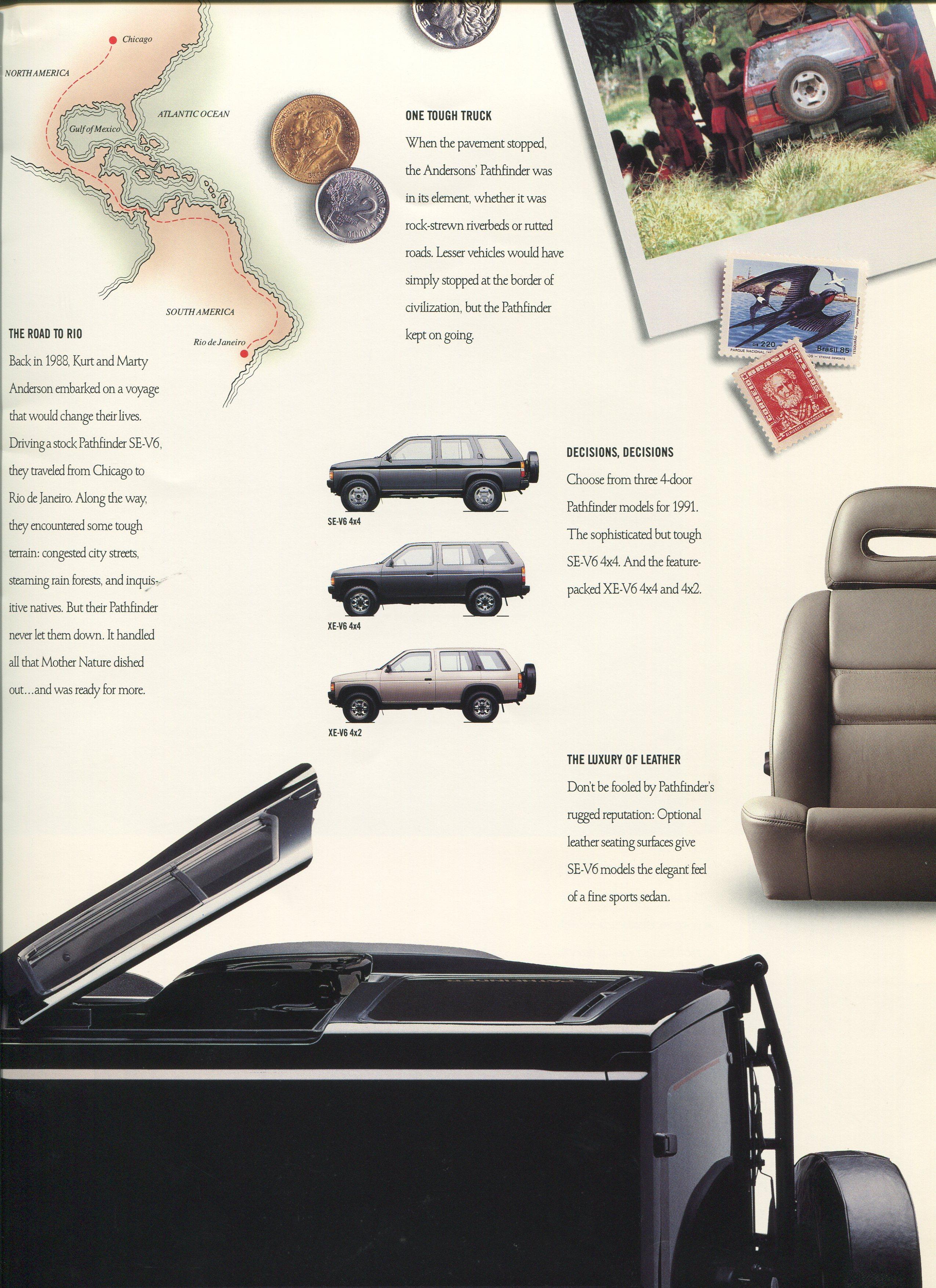 1991 Nissan Pathfinder Dealer Brochure NICOclub