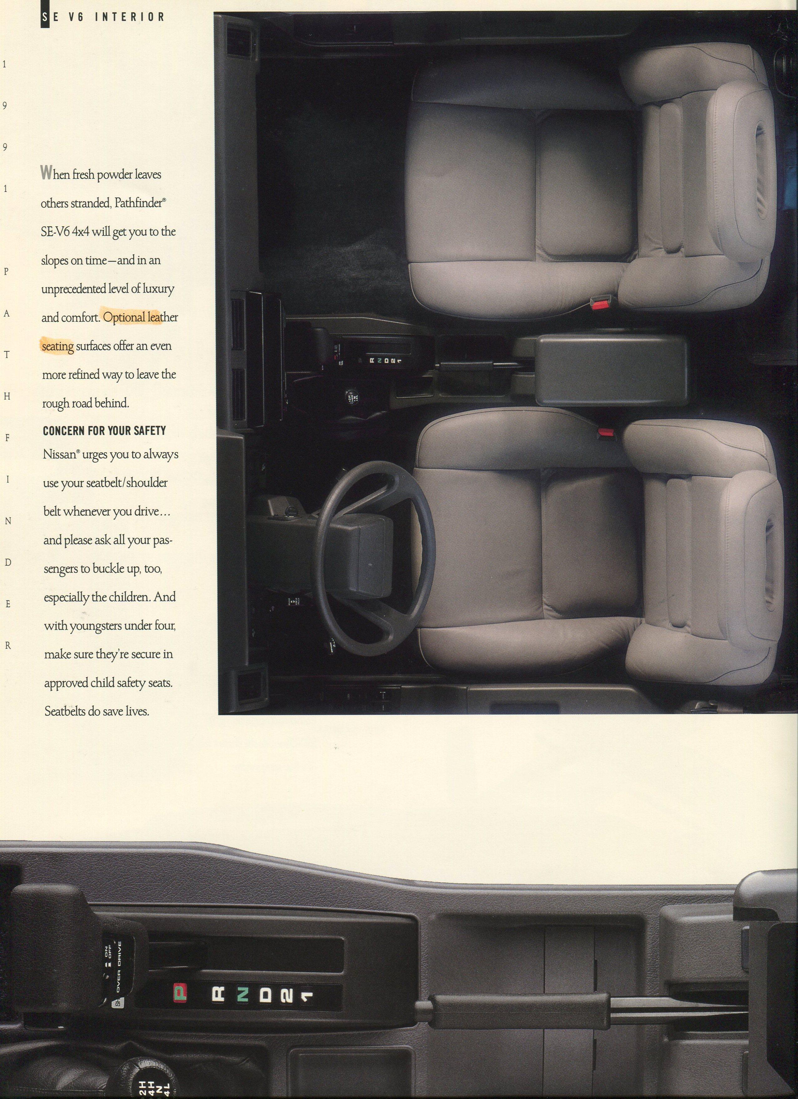 Nissan Pathfinder 2019 >> 1991 Nissan Pathfinder Dealer Brochure - NICOclub