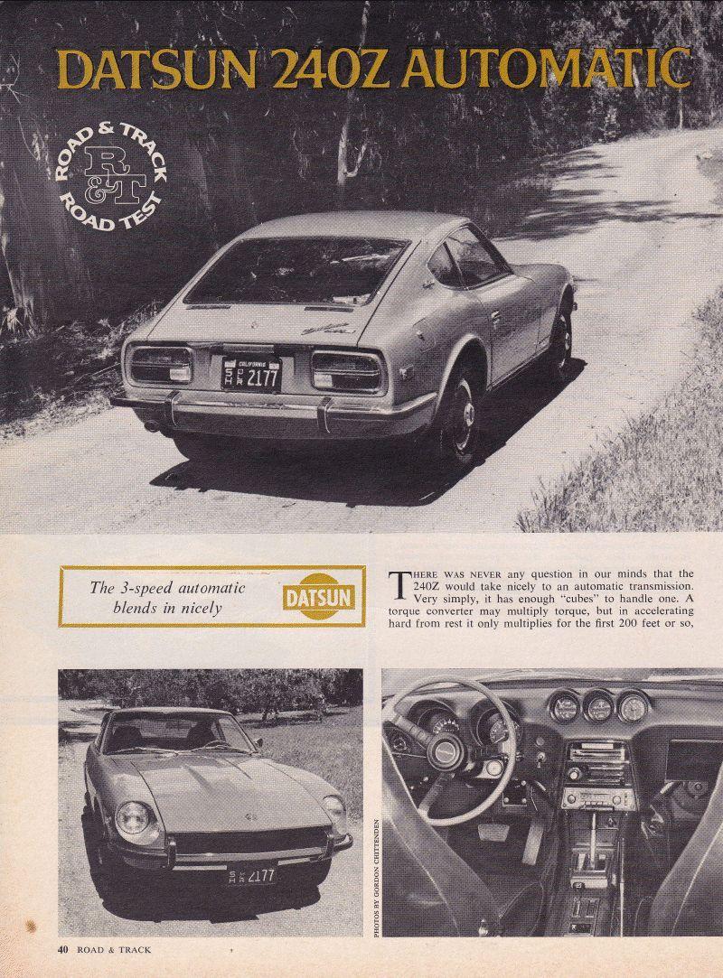Datsun Z Advertising 240z 260z 280z 280zx