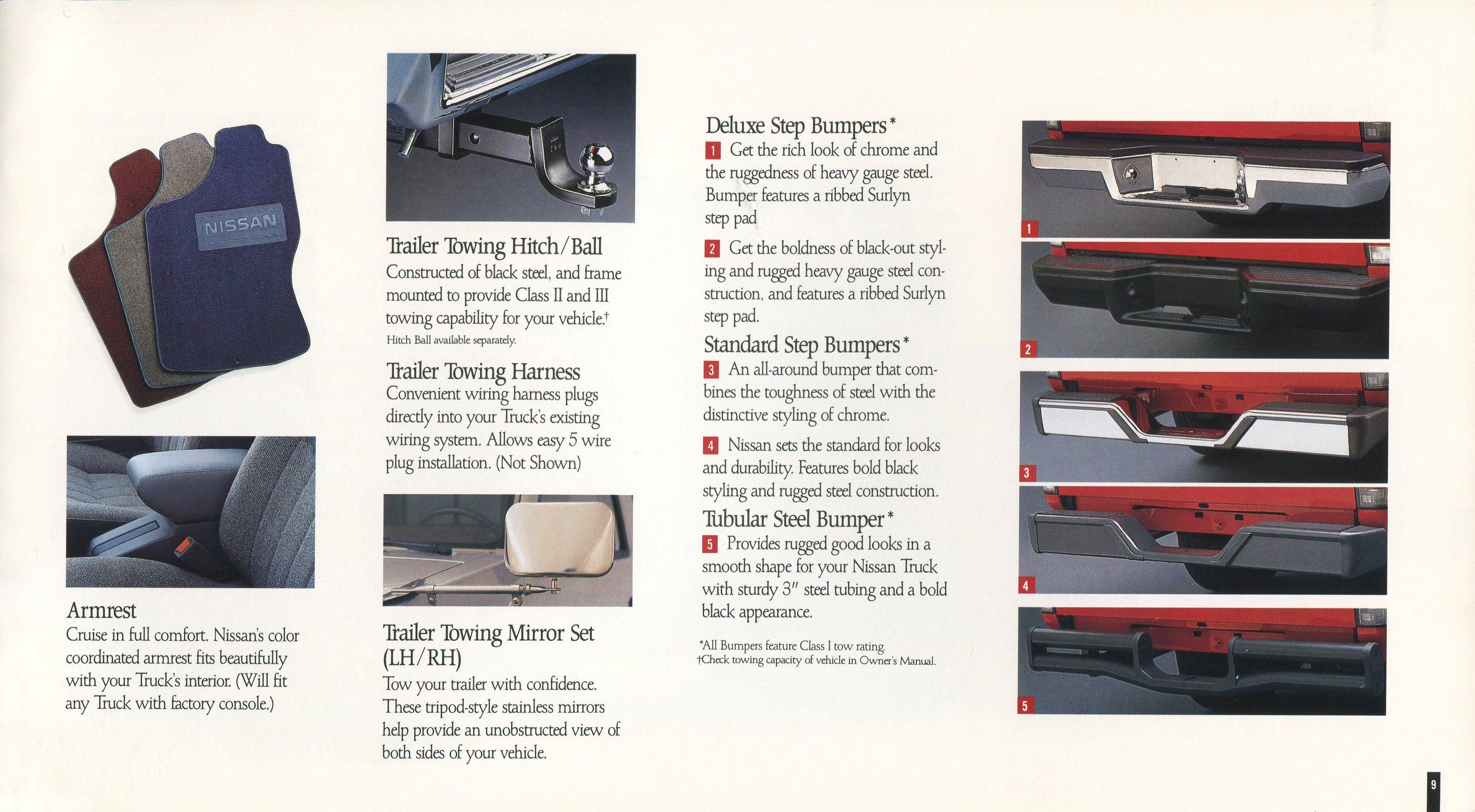 1991 Nissan Trucks Genuine Accessories Brochure Nicoclub Quest Wire Harness