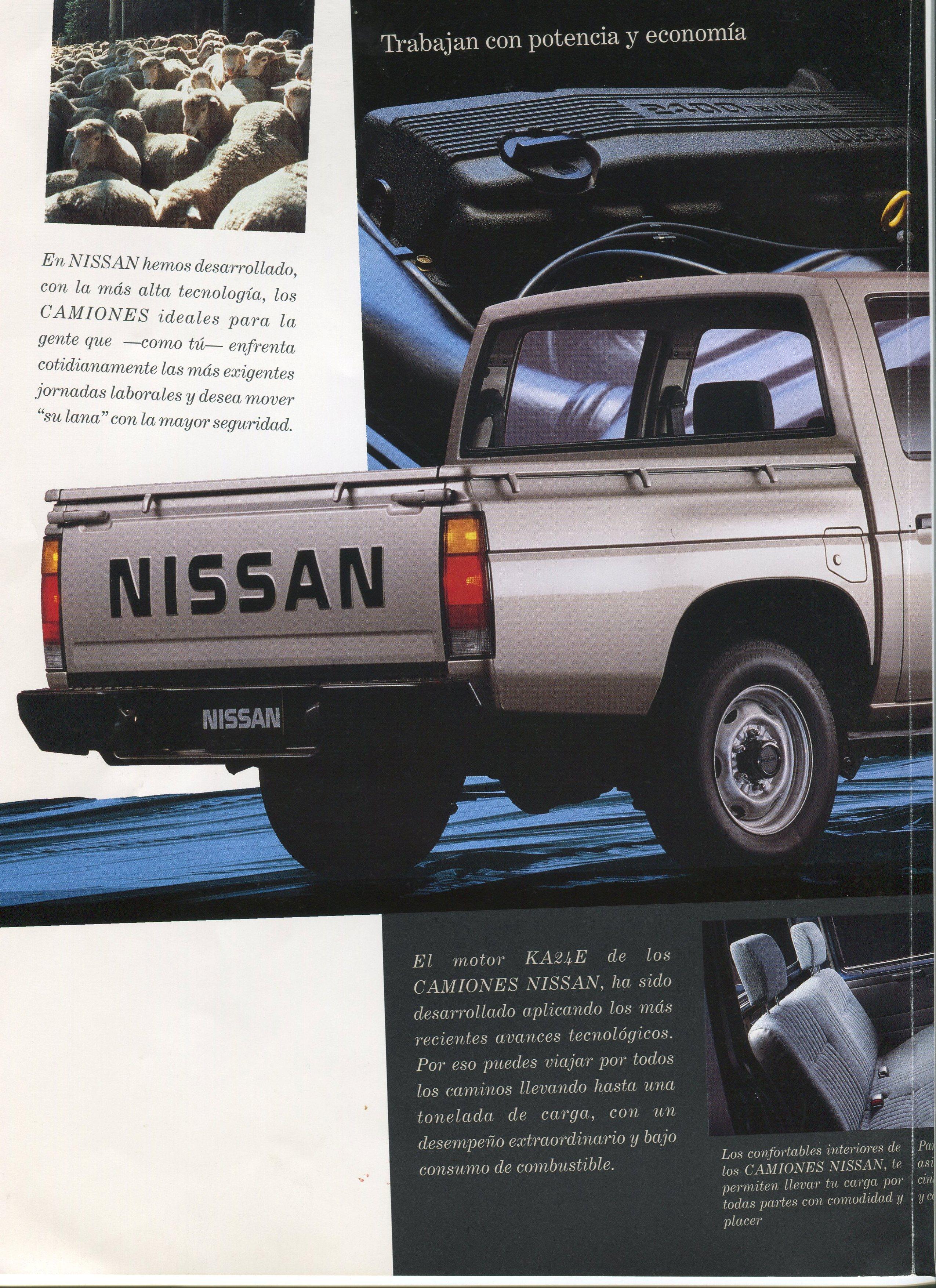 Nissan D21 Hardbody Pickup Dealer Brochure for Mexico ...