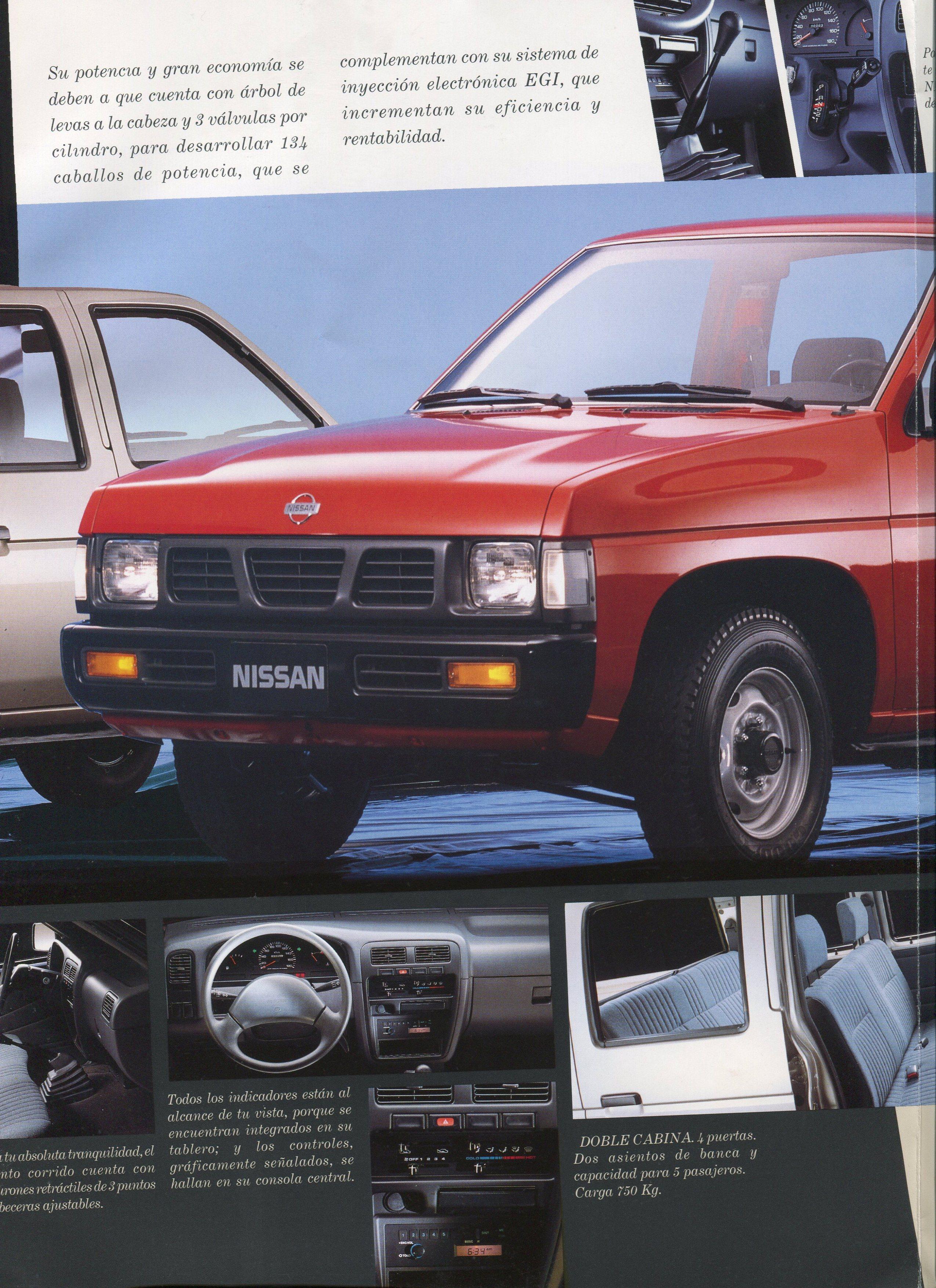 Nissan D21 Hardbody Pickup Dealer Brochure For Mexico
