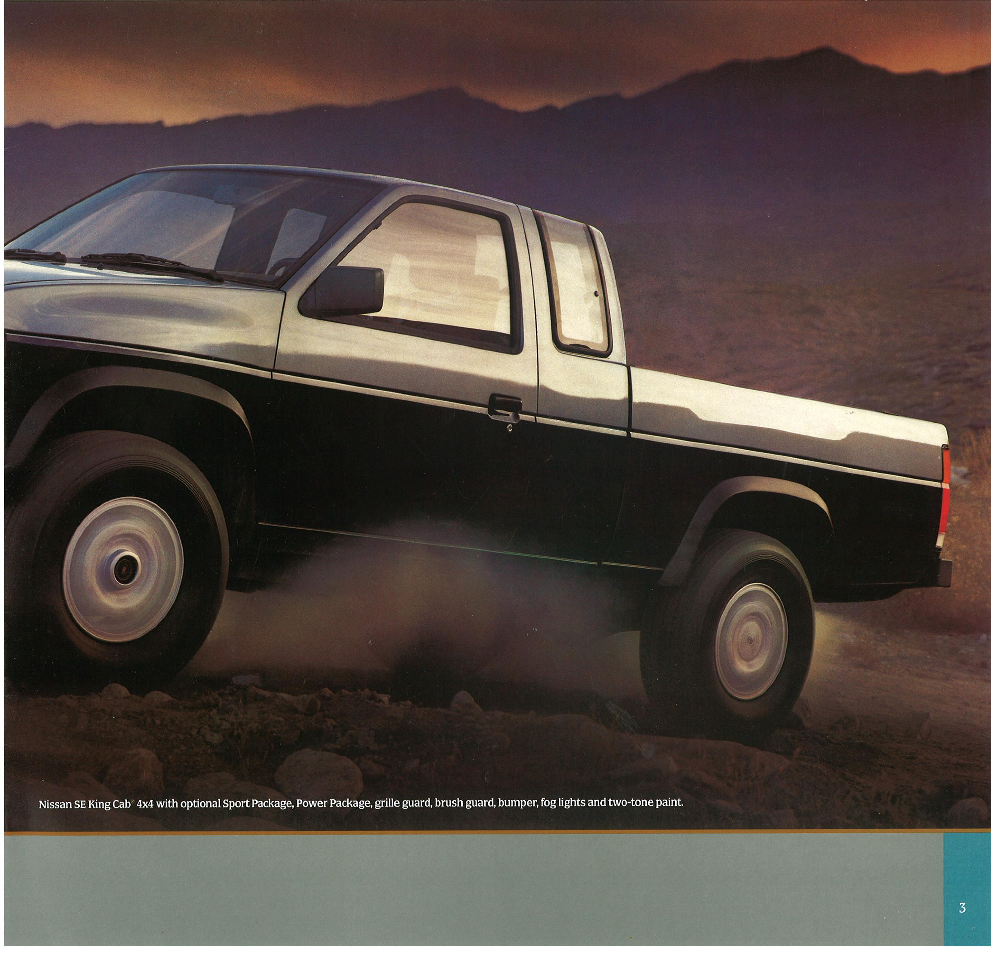 1987 Nissan Hardbody Truck D21 Dealer Brochure - US Market ...