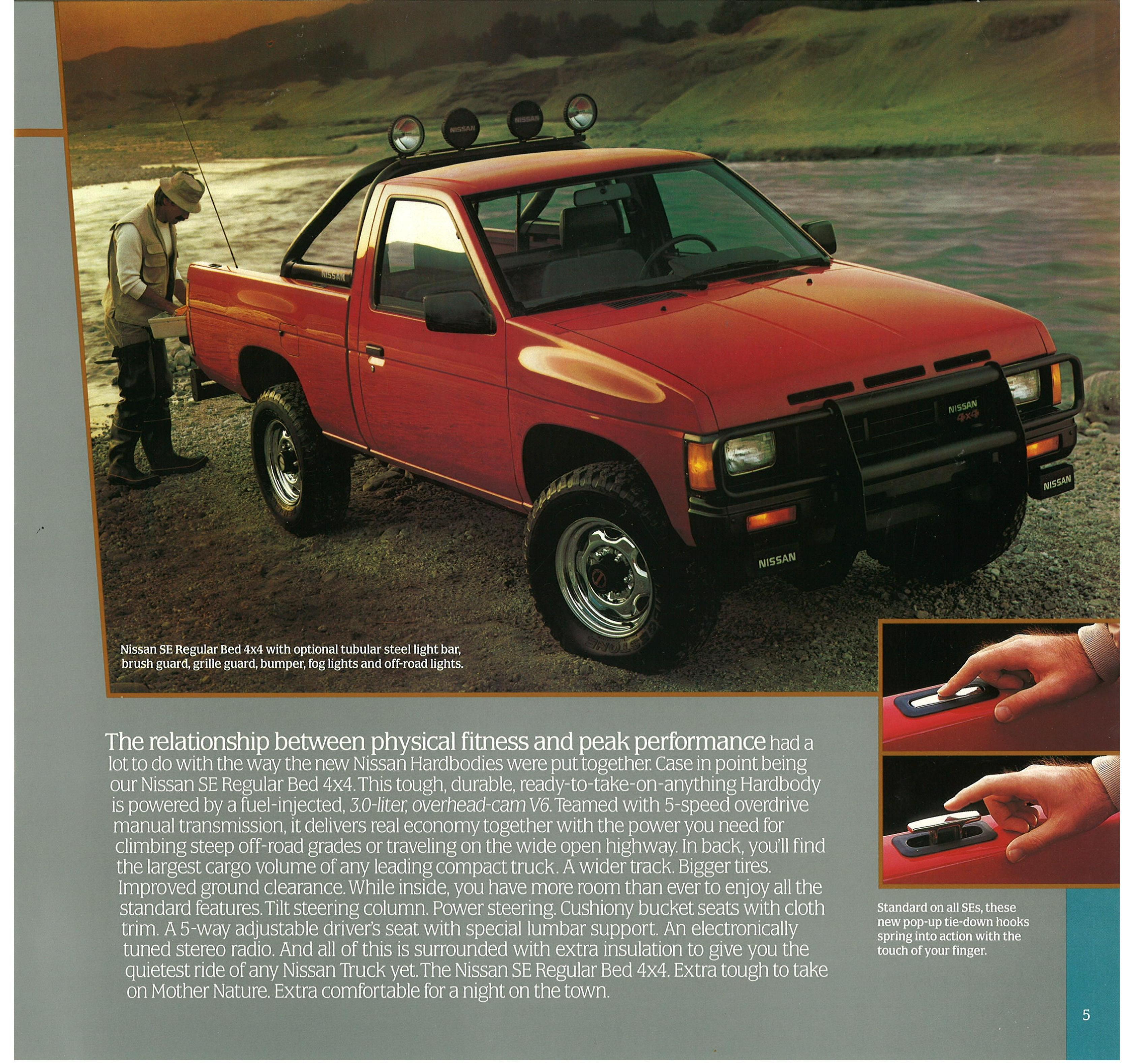 1987 nissan truck d21 dealer brochure us market