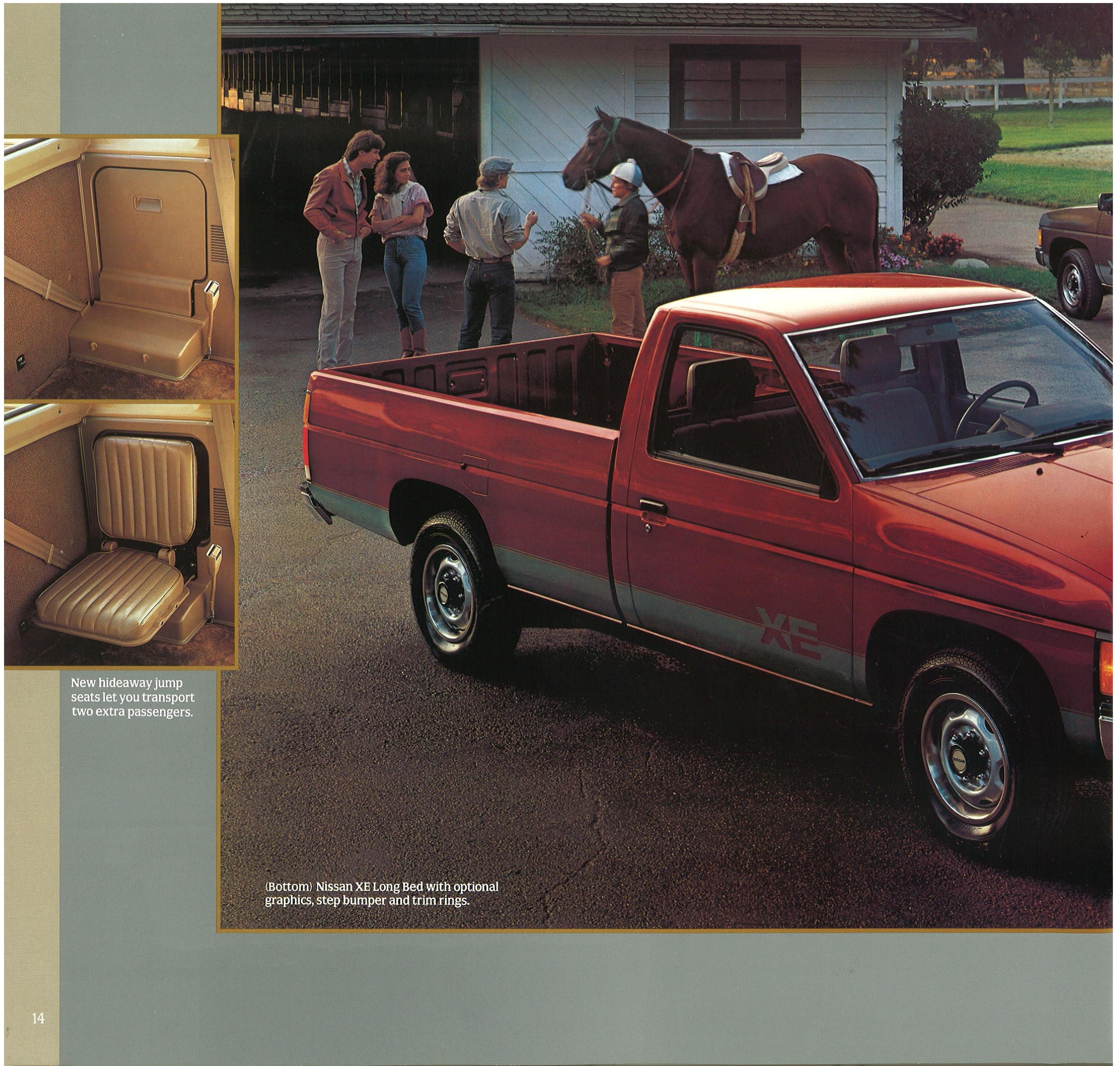 1987 Nissan Hardbody Truck D21 Dealer Brochure Us Market
