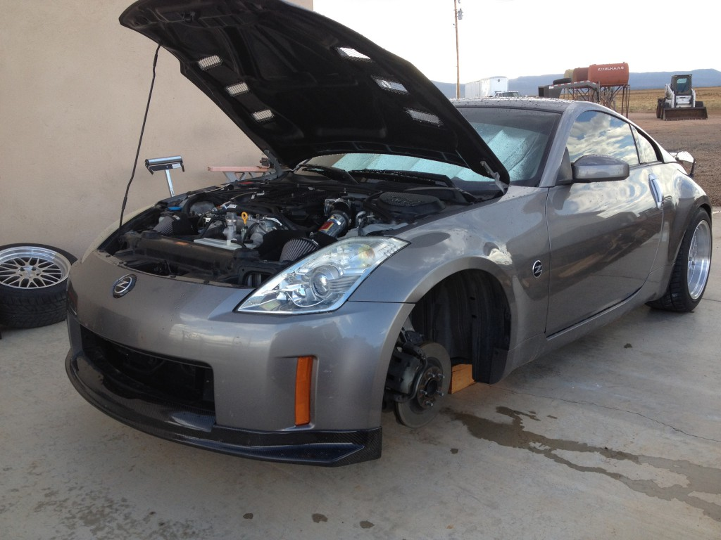 350Z Raceland Coilover Install