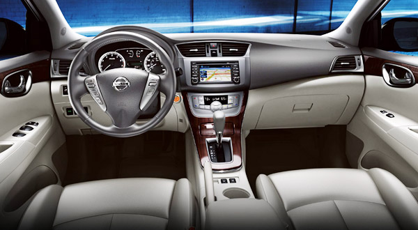 2013 Nissan Sentra leather interior