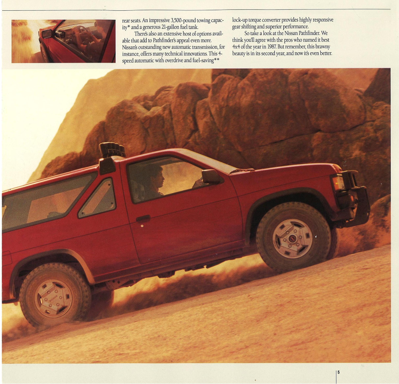 1988 Nissan Pathfinder Dealer Brochure Nicoclub
