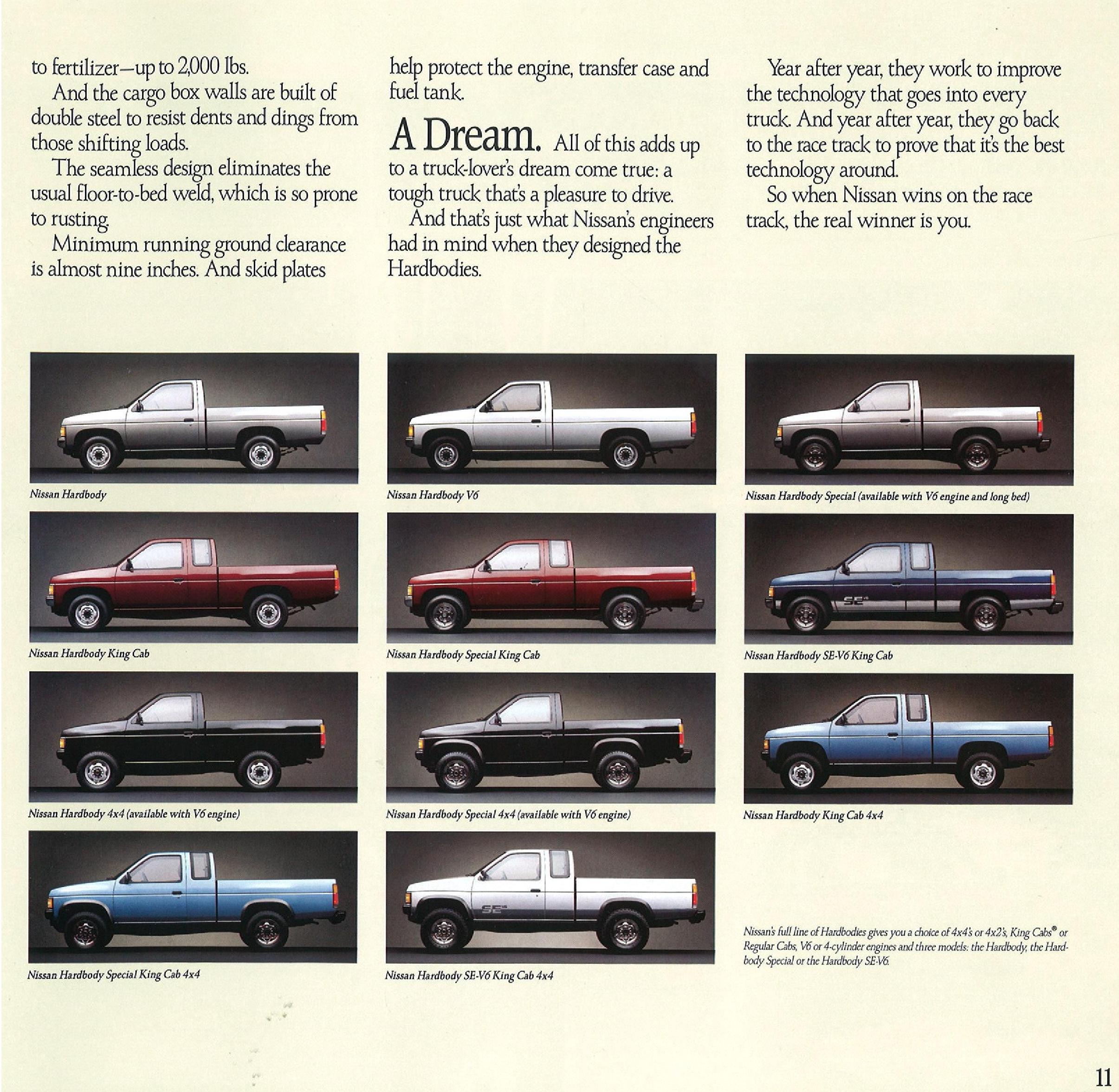 1989 Nissan Hardbody Dealer Brochure - NICOclub