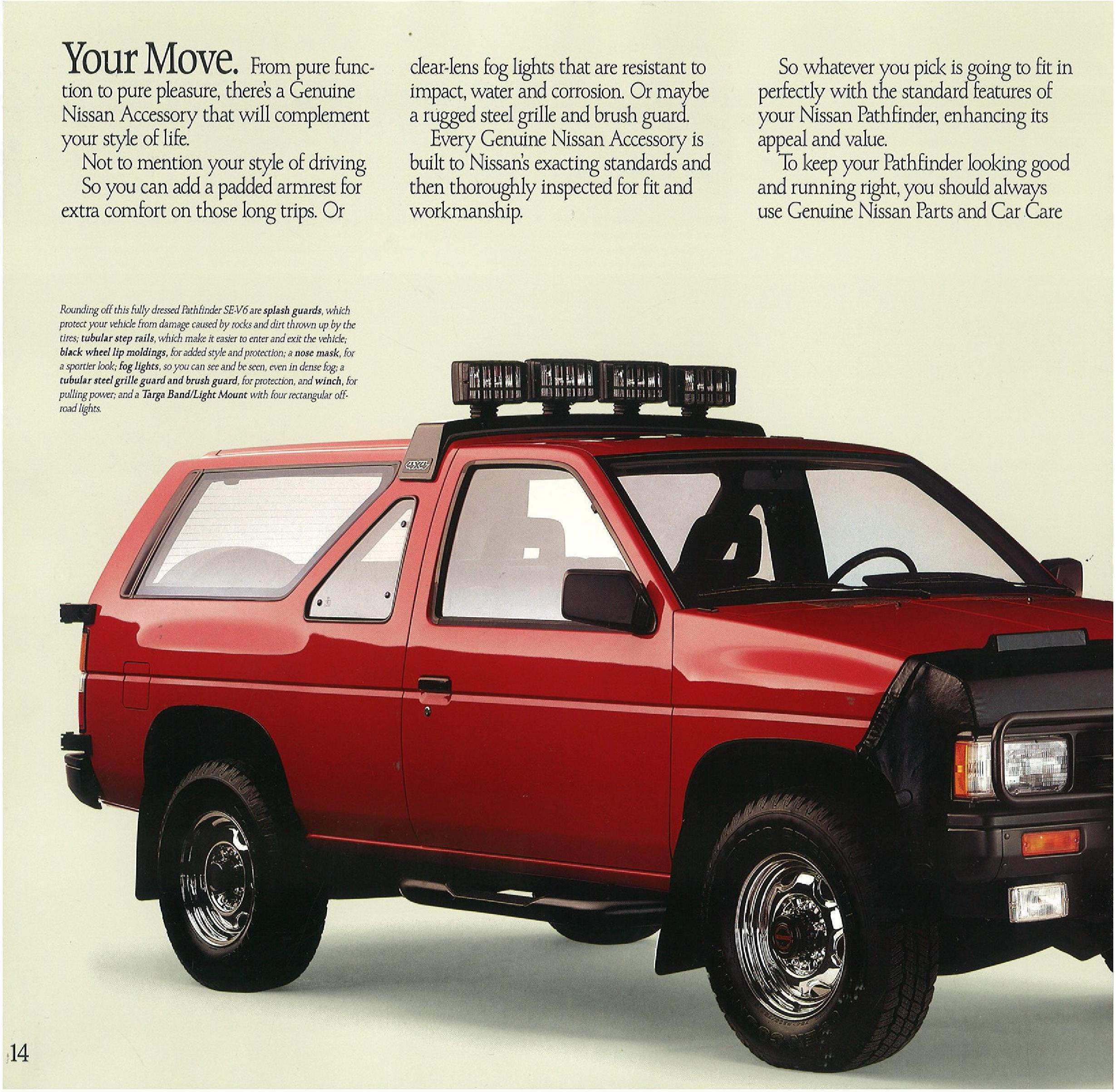 Nissan Extended Warranty >> 1989 Nissan Pathfinder Dealer Brochure - NICOclub