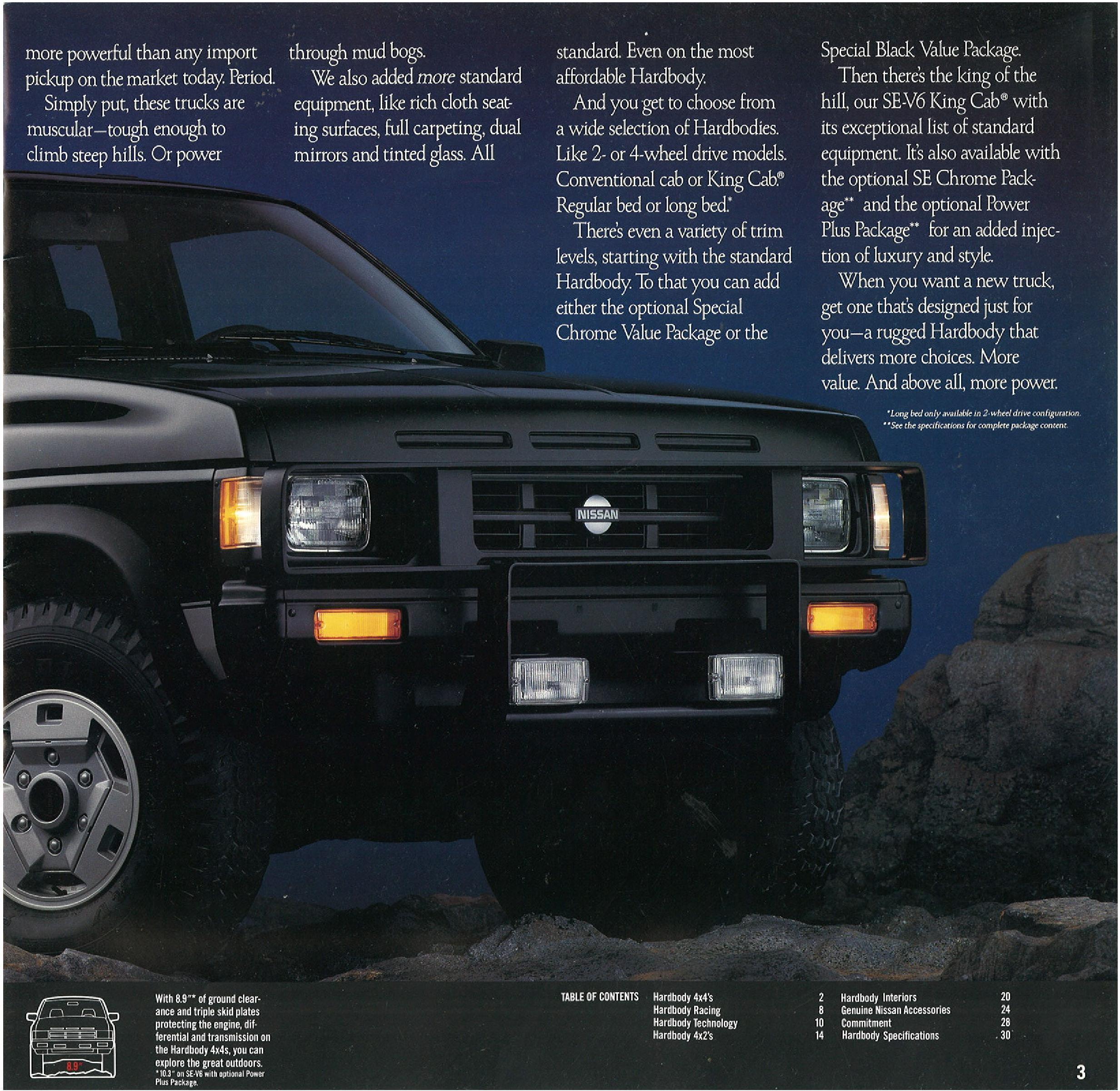 1990 Nissan Hardbody Trucks Dealer Brochure - NICOclub