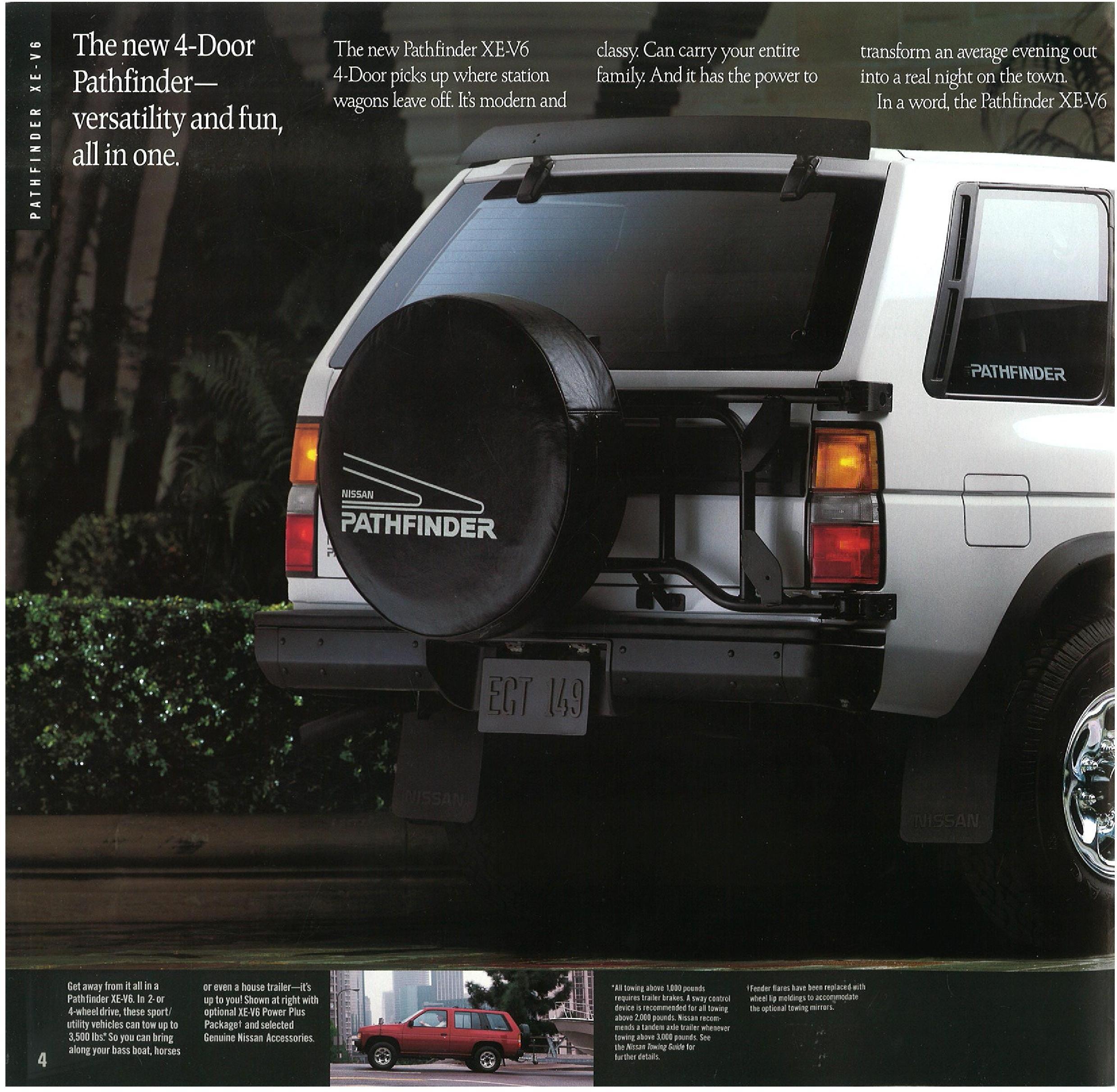 1990 Nissan Pathfinder Dealer Brochure Nicoclub