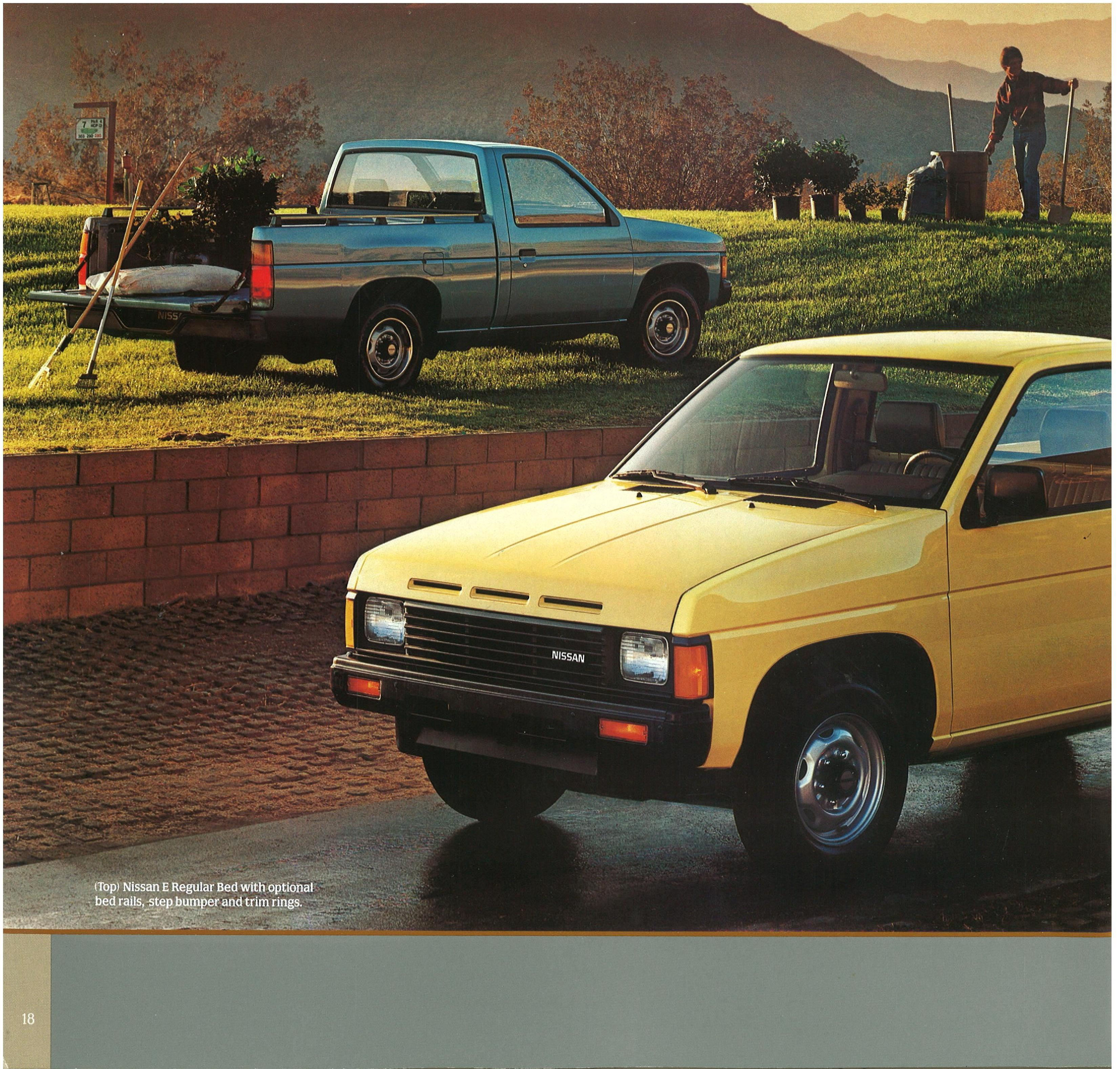 1986 5 nissan hardbody trucks brochure. Black Bedroom Furniture Sets. Home Design Ideas