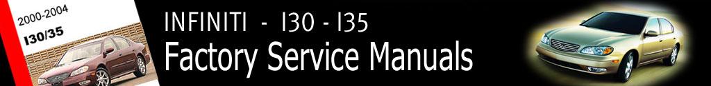 Infiniti I30 and I35 Factory Service Manual