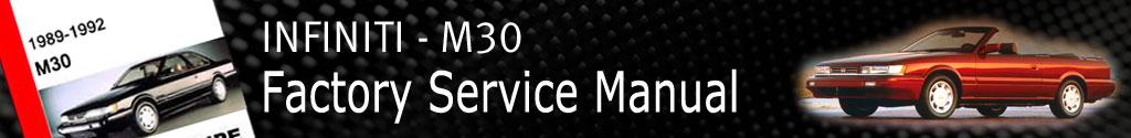 Infiniti M30 Factory Service Manual
