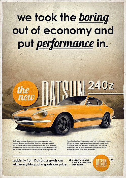 Car Detailing Cost >> Datsun Z Advertising - 240Z / 260Z / 280Z / 280ZX