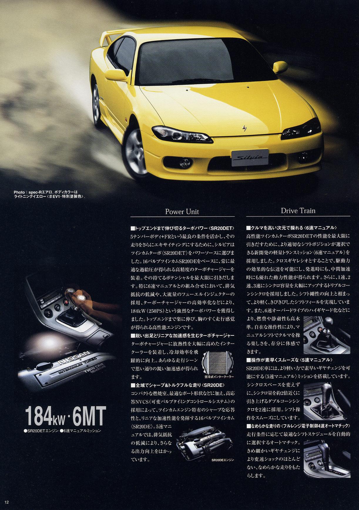 s15 silvia original dealer brochure  japan