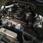 No engine cover