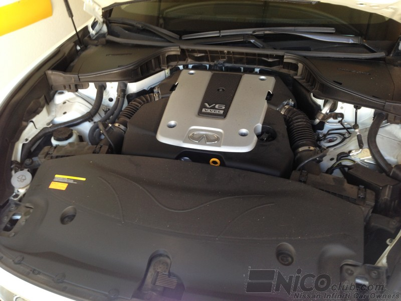 cleanish engine compartment