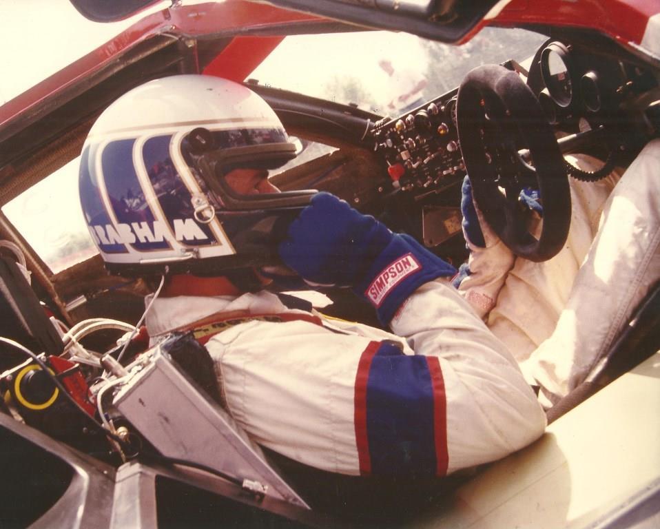 Geoff Brabham inhis GTP Nissan office