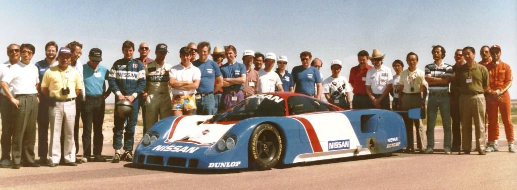 Nissan Le Mans 1990 Lola prototype testing