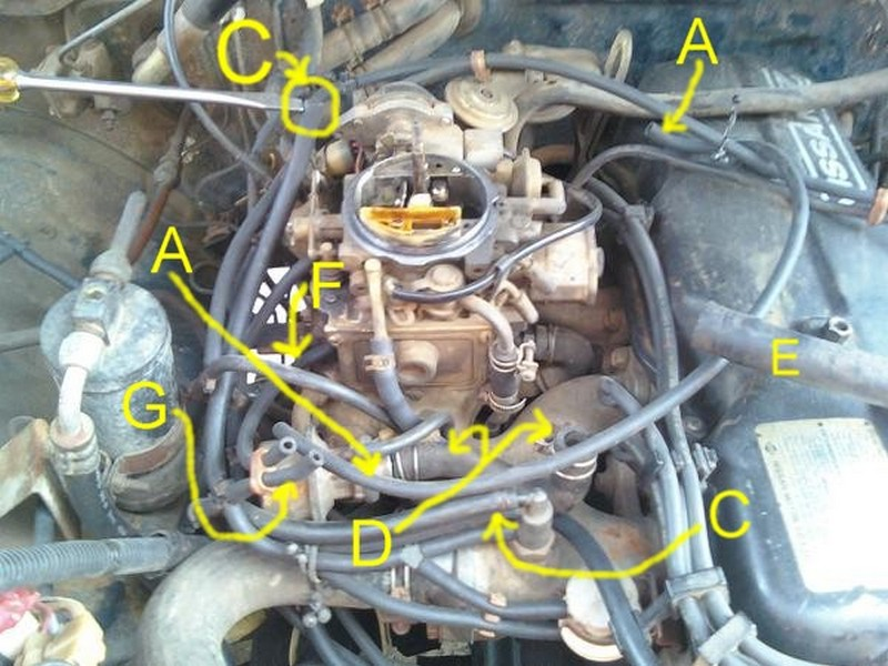 Nissan 720 Pickup Truck Vacuum Hose Routing And Repair Guide