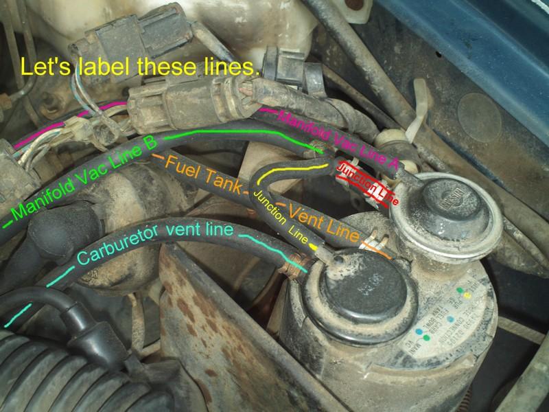 Nissan 720 Pickup Truck Vacuum Hose Routing