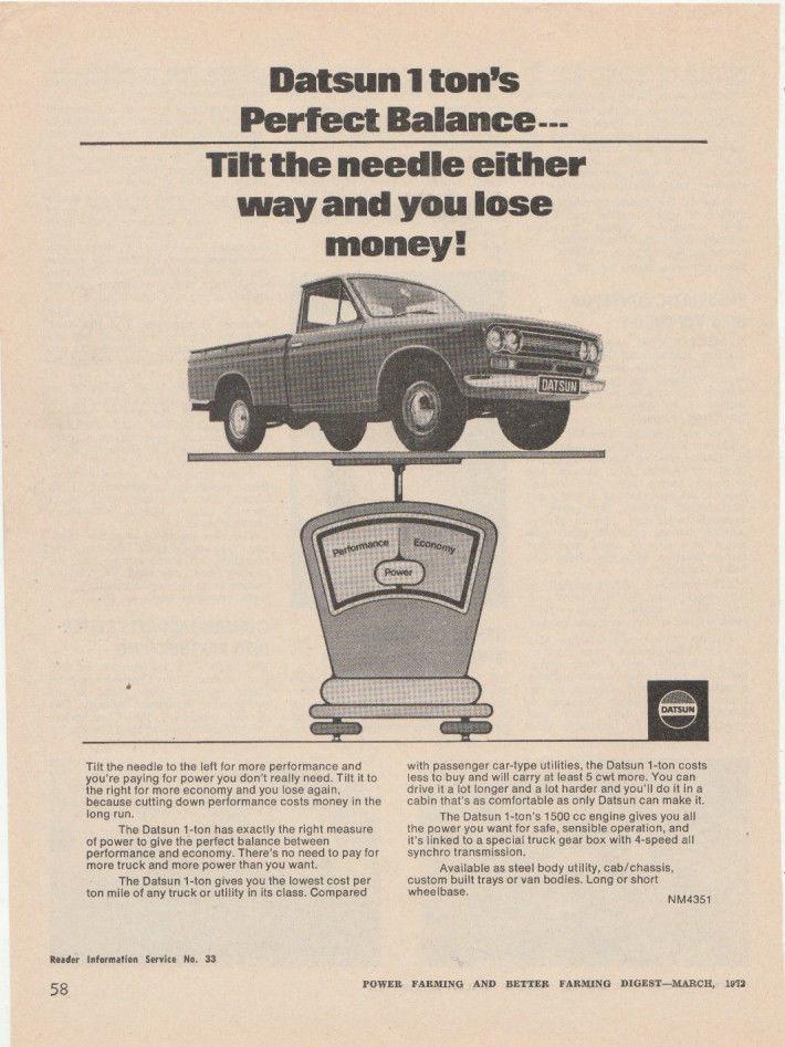 Datsun Advertising - Pickup Trucks