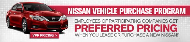 Information on the Nissan Vehicle Purchase Program VPP