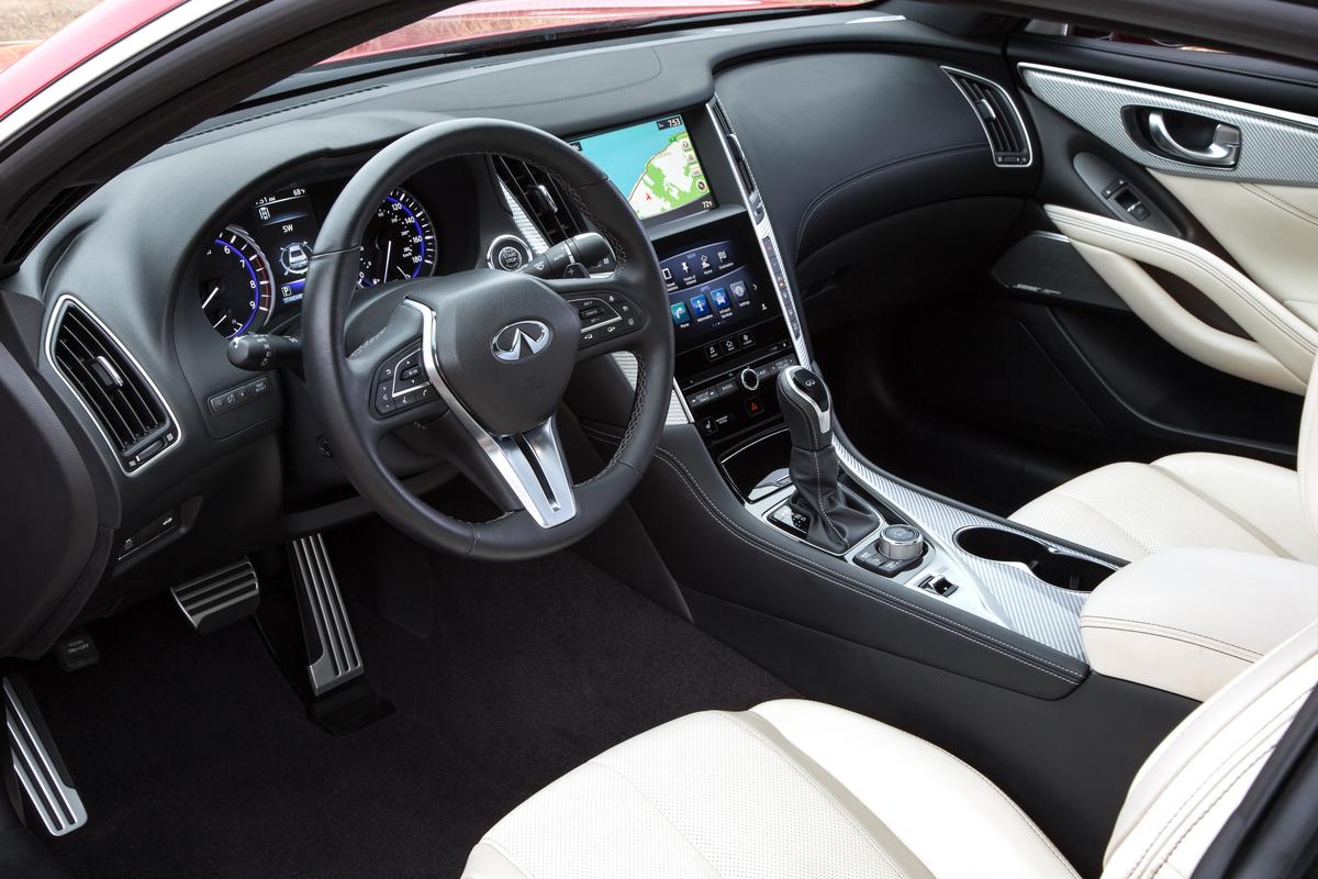Infiniti Q60 Red Sport interior