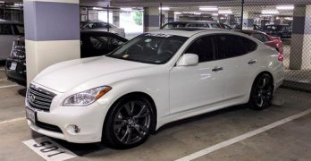 Wheel spacers on a 2011 or newer Infiniti M37