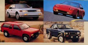 1987 Nissan Full Lineup Dealership Brochure