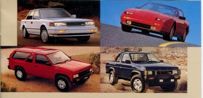 1987 Nissan Full Lineup Dealership Brochure