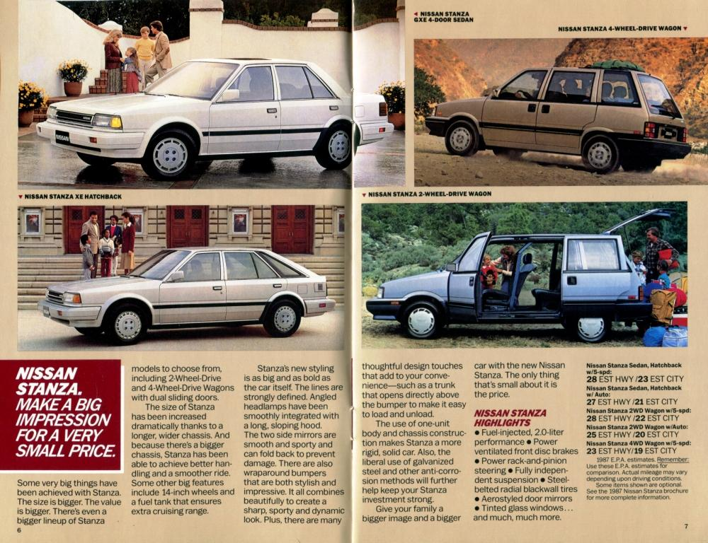 Ceramic Car Wax >> 1987 Nissan Full Lineup Dealership Brochure - NICOclub