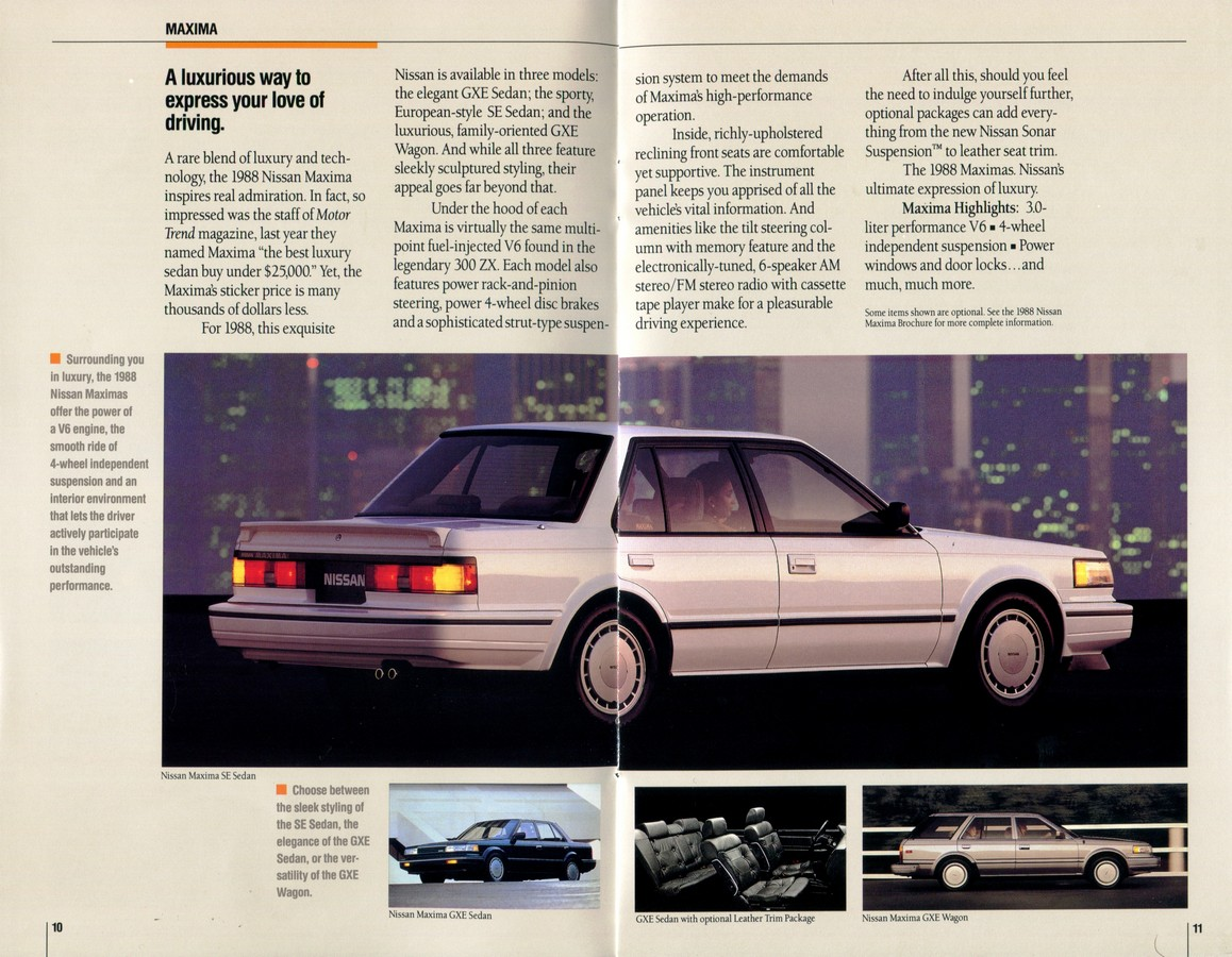 1988 Nissan Full Lineup Dealership Brochure - NICOclub